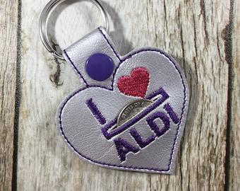 Aldi, Aldi Quarter, Birthday Gift, Aldi Quarter Keeper, Aldi Quarter Holder, Key Fob, Gift for Friend, Aldi Keychain, Gift for Mom, Funny
