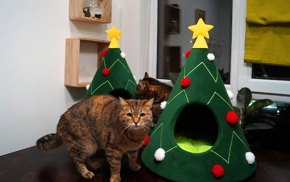 Wondrous Christmas Tree Cat House Cat Furniture Christmas T Idea Pet Furniture Cat Teepee Dog Bed Decoration On Christmas For Pet Lovers Xmas T Pabps2019 Chair Design Images Pabps2019Com
