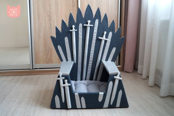 Groovy Cat Bed Iron Throne Cat Furniture Cat House Christmas Present Cat Couch Pet House Bed For Small Dog Gift Idea Cat Cave Teppee For Cat Customarchery Wood Chair Design Ideas Customarcherynet
