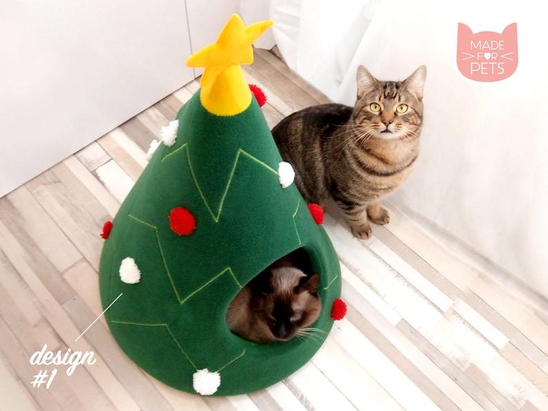 圣诞树猫屋猫家具圣诞节礼物的想法宠物图片0