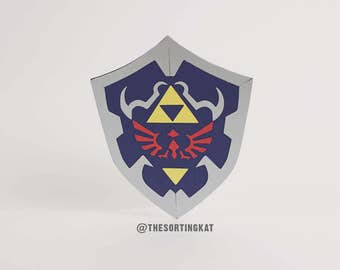 Link's Shield Greetings Card - The Legend of Zelda