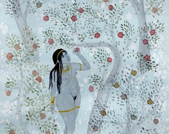 Giclée print, 'Aphrodite in her Enchanted Grove'