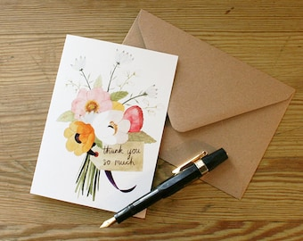 Greetings Card, 'Thank You Flowers'