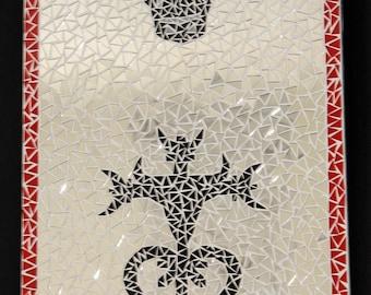 table camarguais mosaic mirror silver