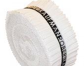 Kona Cotton Snow 2.5in Roll Ups, Jelly Roll, RU-189-40, Robert Kaufman, quilting strips