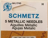 Schmetz Metallic Sewing Machine Needle, Article 1743, Size 80/12