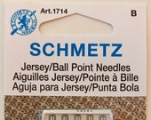 Schmetz Jersey/Ballpoint Sewing Machine Needles, Assorted Sizes