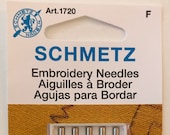Schmetz Embroidery Sewing Machine Needles, Assorted Sizes