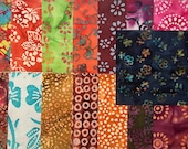 17 ~ 10 Inch Cotton Batik Fabric Quilt Squares, #2