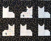 Cat Quilt Kit with Backing & Binding, Crib Quilt, Riley Blake Meow and Forever, Baby Quilt Top