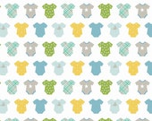 Riley Blake Sweet Baby Boy Quilt Fabric, White