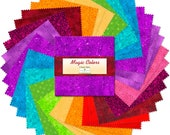 42 ~ Five Inch Rainbow Quilt Squares ~ Wilmington Essential Gems Magic Colors