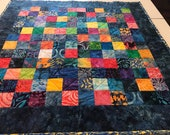 Handmade Patchwork Quilted Table Topper or Table Runner