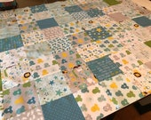 Baby Crib Quilt Kit, Ready to Quilt, Baby Boy Quilt