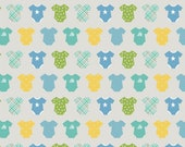 Riley Blake Sweet Baby Boy Quilt Fabric, Gray