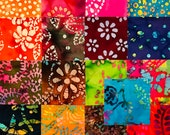 17 ~ 10 Inch Cotton Batik Fabric Quilt Squares, #3