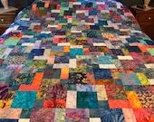 Tropical Batik Queen Size Patchwork Quilt