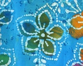 Blue Batik Fabric By The Yard, Cotton Quilting Fabric