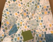 Baby Patchwork Quilt Kit, Ready to Quilt, Baby Boy Quilt
