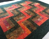 Unfinished Quilt Top with Bold Fall Batiks
