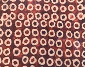 By The Yard, Brown Quilters Batik Fabric, Batik Quilting Fabric