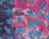 Purple & Pink Batik Fabric By The Yard, Cotton Quilting Fabric
