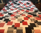 "Queen Size Patchwork Quilt Top, 88"" x 101"", Borders & Binding Included, Ready to Quilt, Kimberbell Basics"