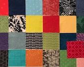 10 Inch Quilt Squares, Hoffman Indah Batiks, 25 Different Prints, Layer Cake Fabric