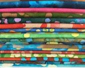 Batik Fat Quarter Bundle, 17 Pieces, No Repeats, Crafting, Sewing, Face Masks