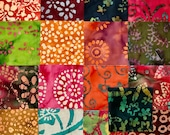 17 ~ 10 Inch Cotton Batik Fabric Quilt Squares, #2
