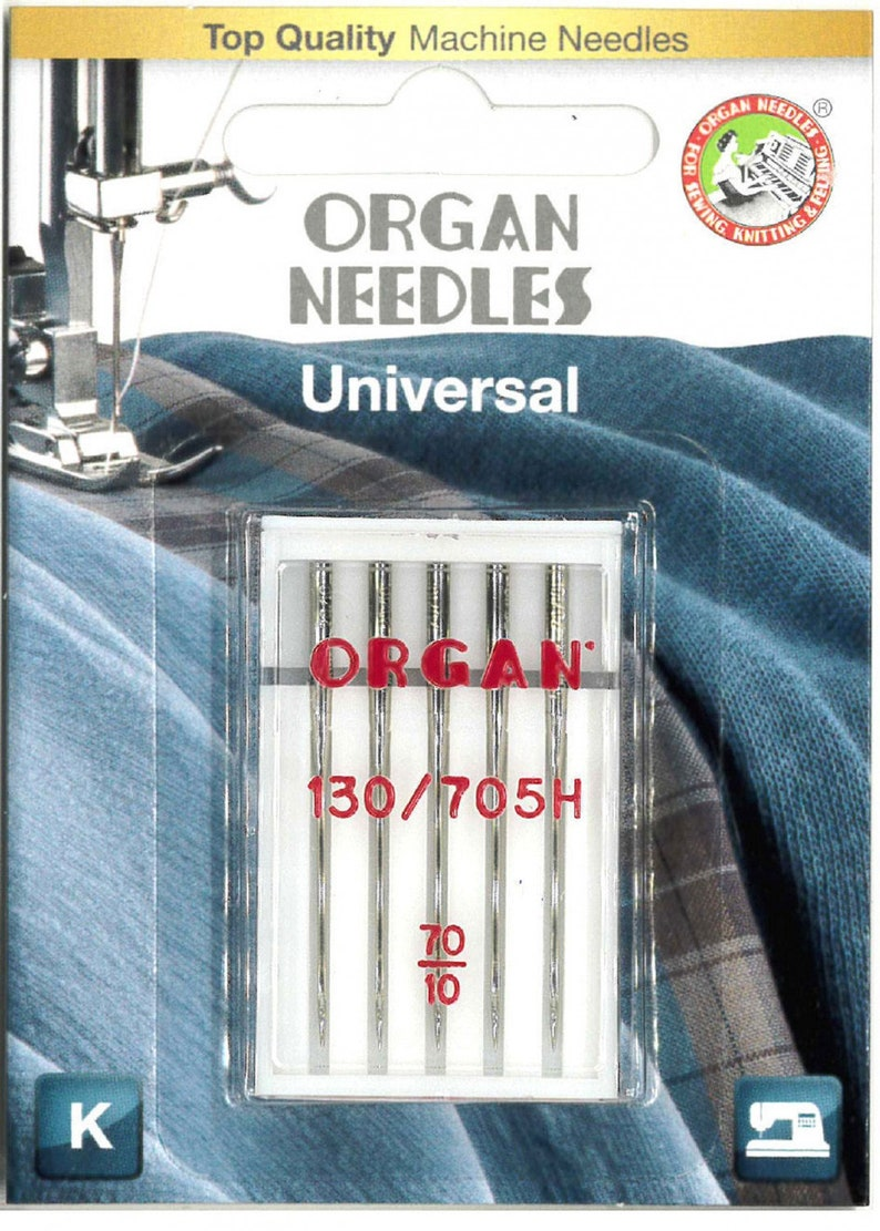 5 Pk. Size 10 Organ Home Sewing Machine Needles Universal image 0