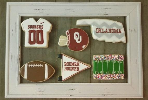 Ou Oklahoma Sooner Cookies Can Be Made For Football Basketball Or Baseball