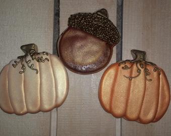 Fall Pumpkin and Acorn Thanksgiving cookies