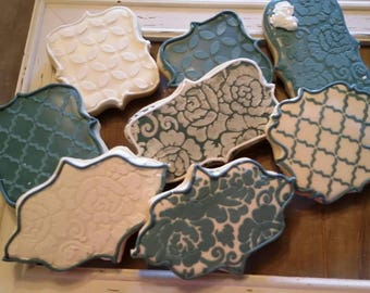 Dimensional Pattern Cookies - Any color combination - One Dozen