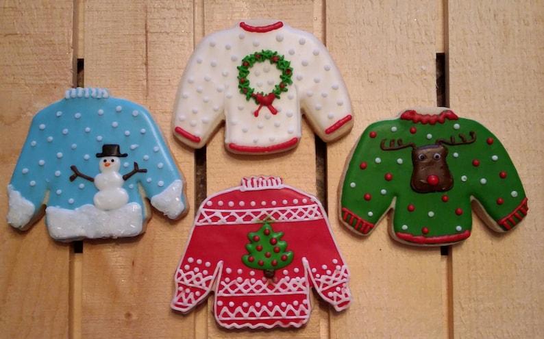 Ugly Christmas Sweater Cookies One Dozen