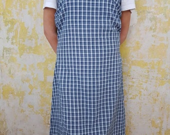 b682c6e300c 1990s Vintage Dress. Blue And White Checked Dress. Size 10-12. Rachel from  Friends. Urban Outfitters. Women's Vintage Clothing. Ladies.