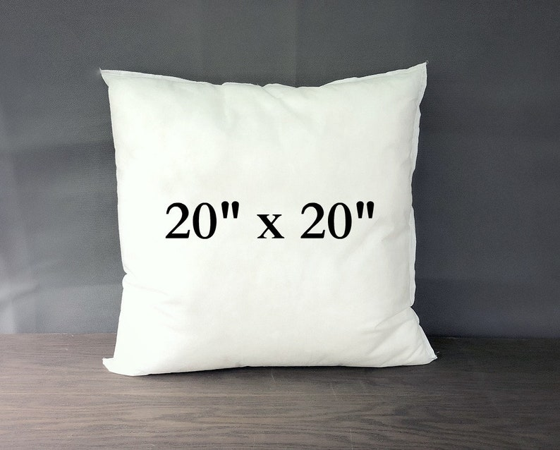 Pillow Insert 20x20 Inches Pillow Form Square Pillow Etsy