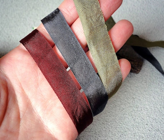 1 Inches Wide 5 Yards 100/% Organic Cotton Canvas Bias Binding