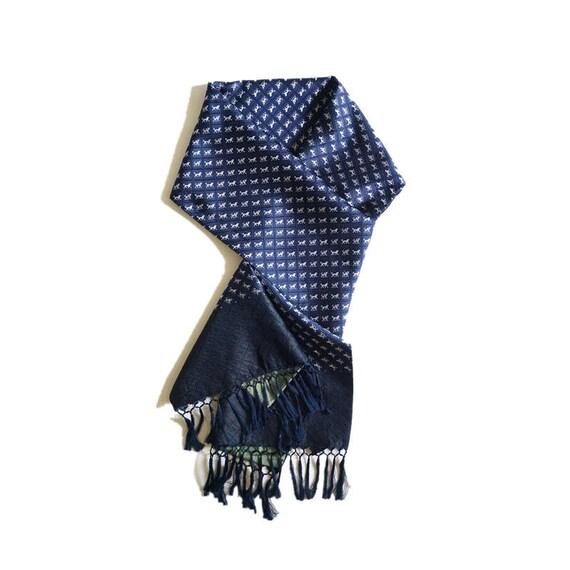 Men's 100% SILK classy tassels jacquard 80' scarf