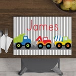 Dump Truck - Personalized Kids Placemat - Construction Placemat - Custom Placemat - Easter Gift - Child Placemat - Dump Truck Placemat