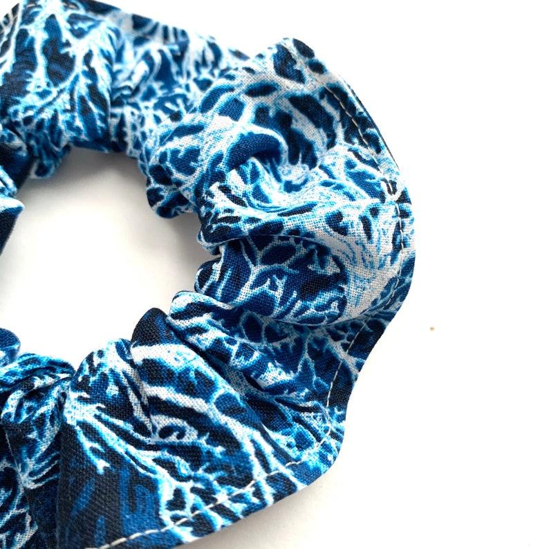 vacation elastic ponytails blue scrunchie summer white blue girls hair ties wedding coral
