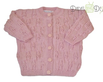 """Baby jacket """"Maria"""" knitted size ca. 68"""