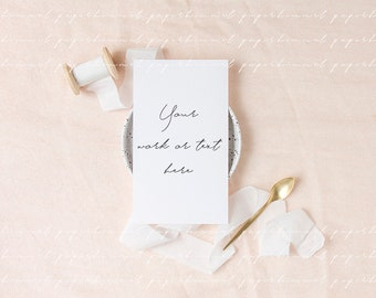 Wedding Card Mockup Stationery Save The Date Etsy