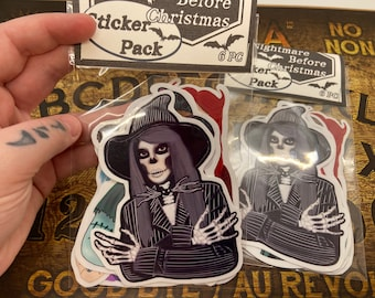 Nightmare Before Christmas sticker pack of 6 stickers
