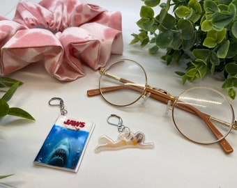 Jaws movie and swimmer earrings