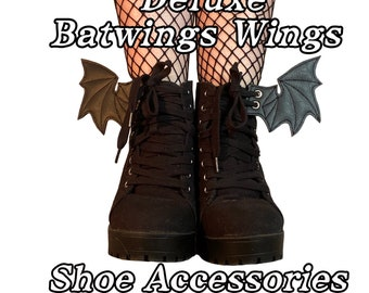 Deluxe bat wings shoe accessories