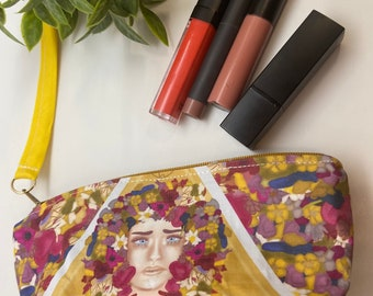 Midsommar May Queen makeup, pencil case, coin pouch