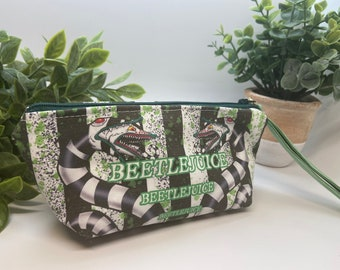 Beetlejuice coin pouch, makeup bag, pencil case