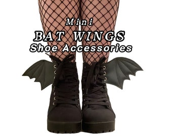 Mini Bat Wing shoe accessories, goth accessories, add on, medium size available of bat wings