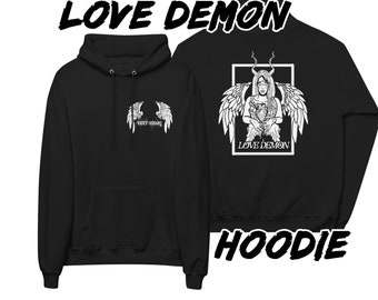 Love Demon pull over hoodie, gothic horror